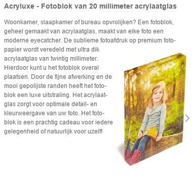 Fotoblok acrylglas