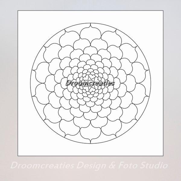 download mandala kleurplaat 3