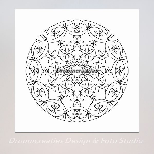 download mandala kleurplaat 4