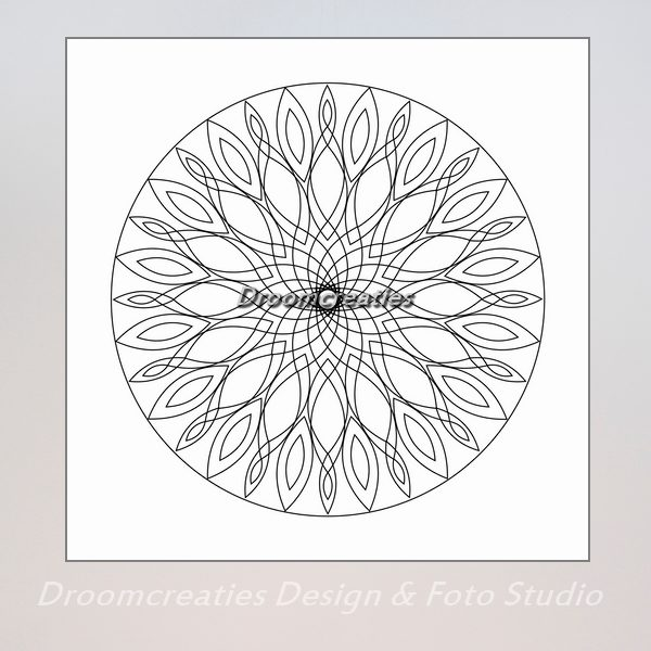 download mandala kleurplaat 5