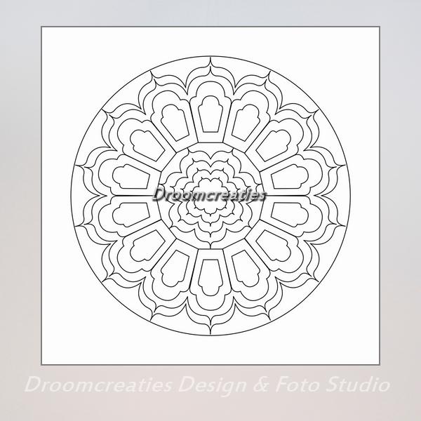 Kleurplaten Mandala Pdf.Download Mandala Kleurplaat 9