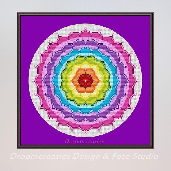 borduurpatroon mandala chakra