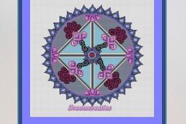 borduurpatroon mandala equinox lente