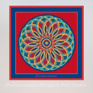 borduurpatroon mandala indian summer