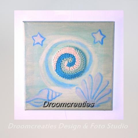 canvas creatie zeeschelp