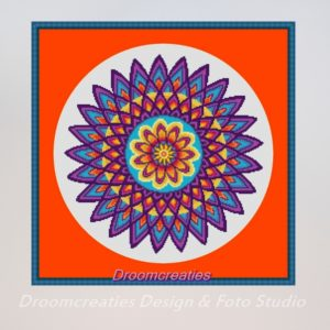 borduurpatroon mandala dahlia