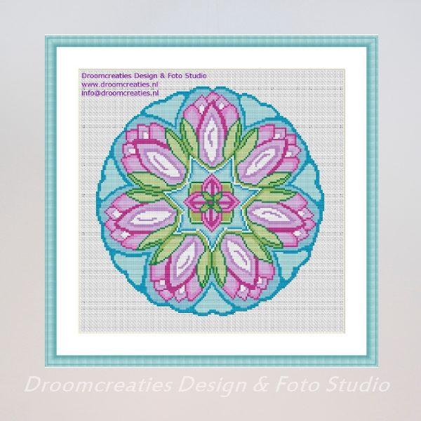 mandala-borduurpatroon-Waterlotus